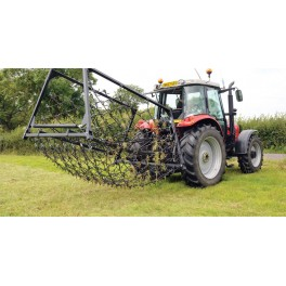 16ft - 3 Way Mounted Harrow, Folding Wings - Double Depth