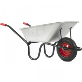 120L County Galvanised Barrow - Pneumatic Wheel