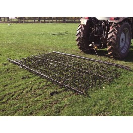 20ft Chain & Spike Trailed Harrow with Folding Wings